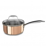 หม้อด้าม Tri - Ply Copper พร้อมฝาปิด 1.5 QT